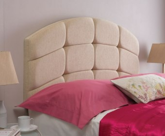 Pesaro 5ft Shetland Burgundy Upholstered Headboard *Special Offer*
