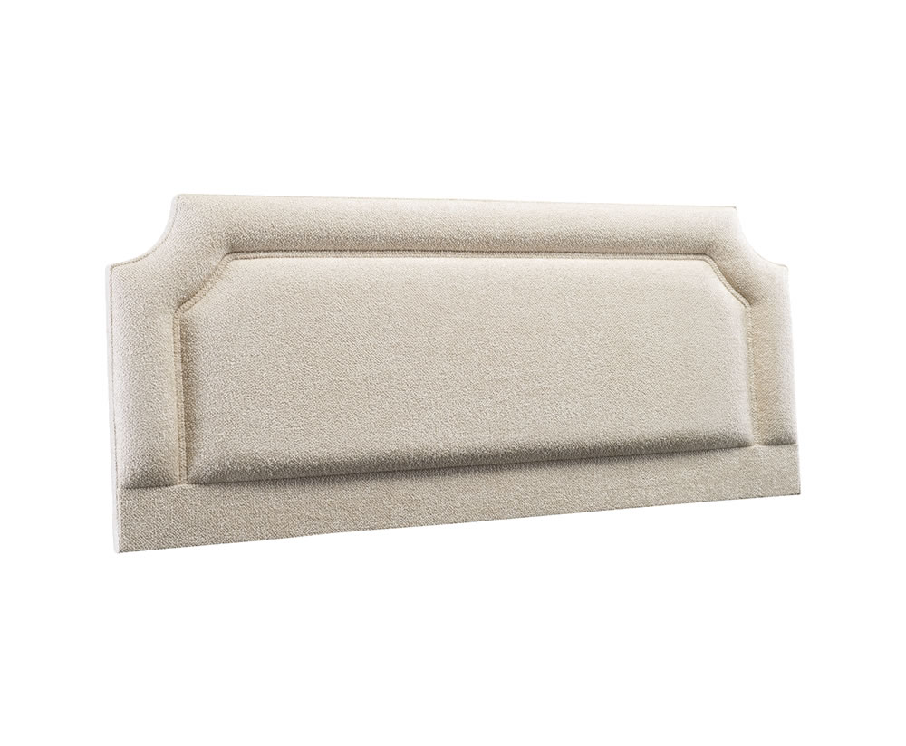 Arch faux leather and suede headboard for Fake headboard
