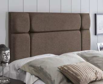 Pavia 5ft Marsas Brown Upholstered Headboard *Special Offer*