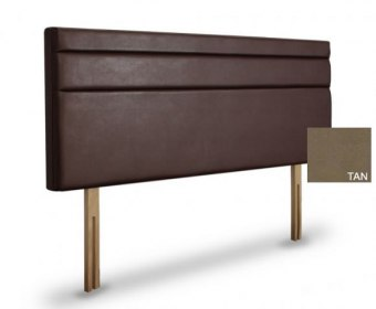 Tansy 4ft 6 Tan Faux Suede Upholstered Headboard *Special Offer*