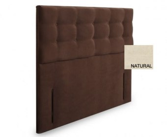 Bluebell 4ft Natural Chenille Upholstered Floor Standing Headboard *Special Offer*