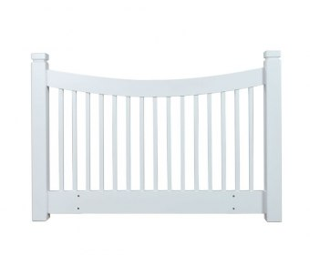 Harley White Wooden Slatted Headboard
