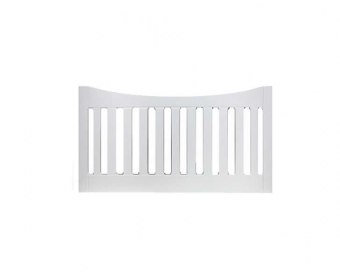 Kansas 4ft Textured White Slatted Wooden Headboard *Special Offer*