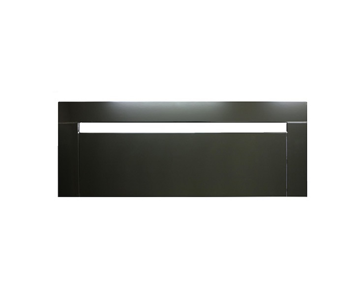 Headboards Pasadena 5ft Black Gloss Wooden Headboard *Special Offer* king size - 5ft textured white