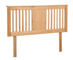 Nova Solid Oak Slatted Headboard
