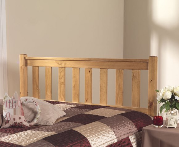 justheadboards.co.uk  Shaker Pine 4ft Wooden Headboard *Special Offer* small double size - 4ft natural finish