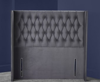 Montez Upholstered Winged Floor Standing Headboard