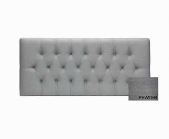 Poppy 4ft Soft Touch Pewter Upholstered Headboard *Special Offer*