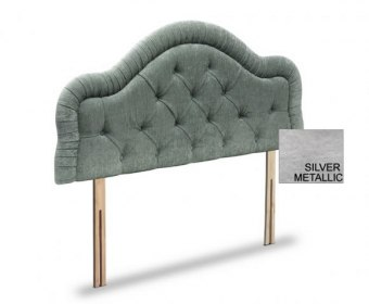 Lydia 4ft 6 Silver Metallic Faux Leather Headboard *Special Offer*
