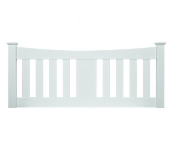 Halcyon White Slatted Wooden Headboard