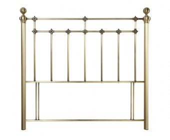 Brittany Antique Brass Metal Headboard
