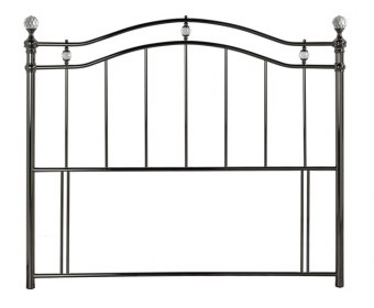 Cambridge Black Nickel Metal Headboard