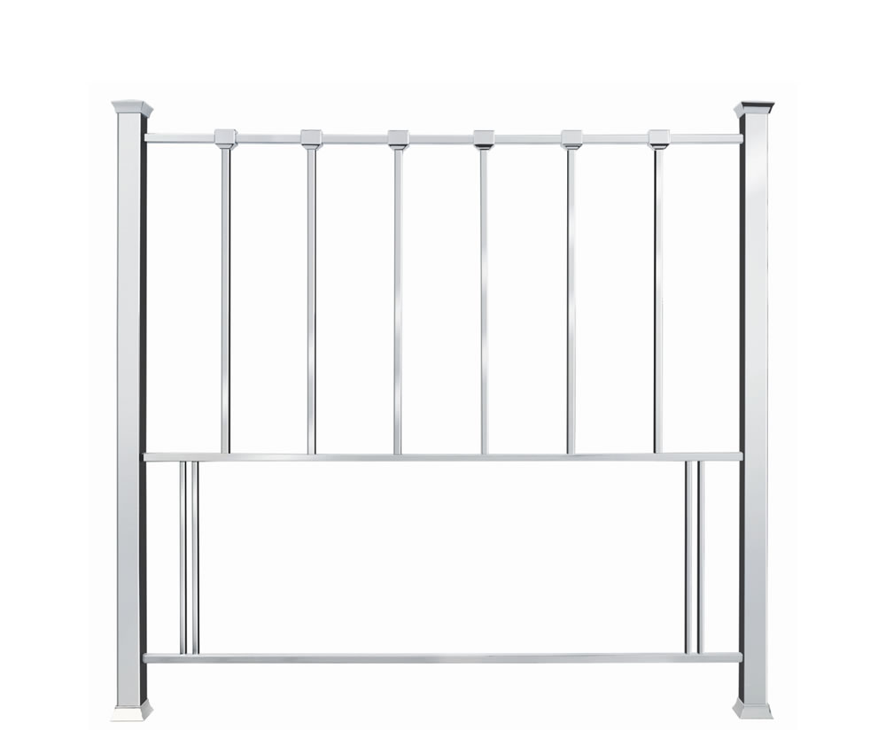 justheadboards.co.uk Madison Nickel Metal Headboard double size - 4ft 6
