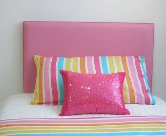 Christine Faux Leather & Suede Headboard