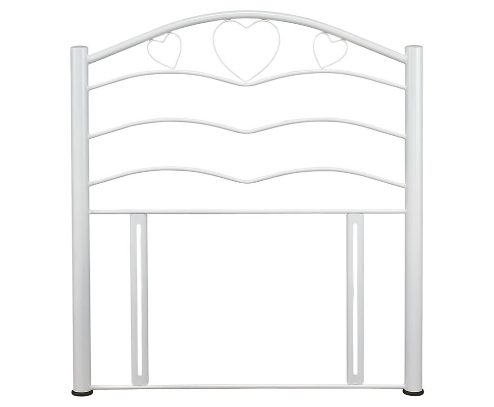 justheadboards.co.uk Yasmin White Childrens Metal Headboard