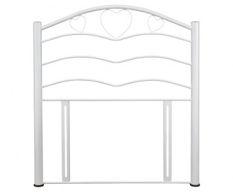 Yasmin White Childrens Metal Headboard