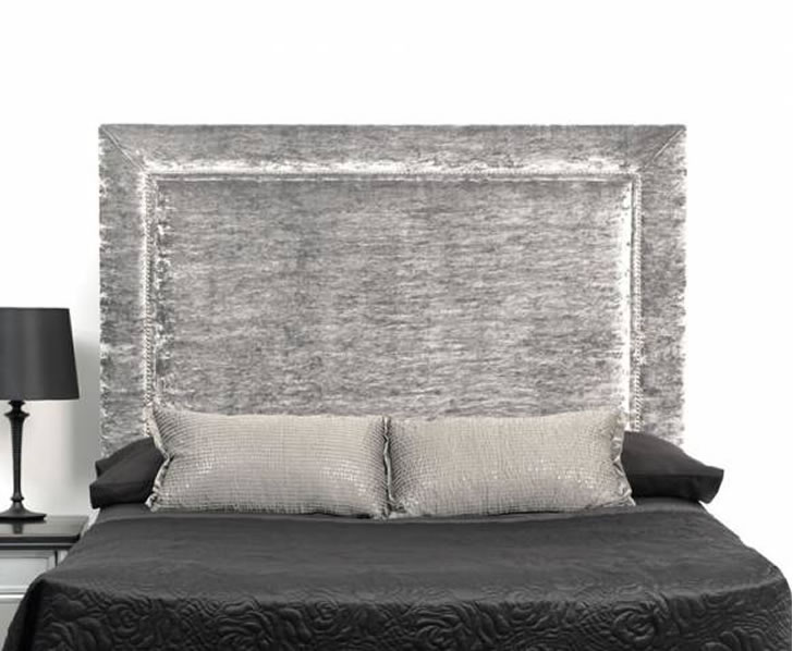 lennox crushed velvet upholstered headboard. Black Bedroom Furniture Sets. Home Design Ideas