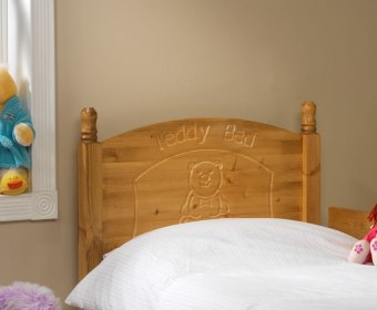 Teddy Bear Childrens Wooden Headboard