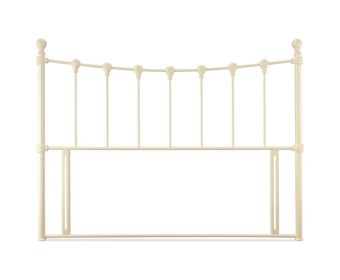 Marseille Ivory Metal Headboard