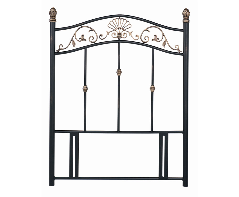 Angelica Black Metal Single Headboard