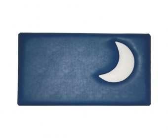 Moon Childrens Faux Leather Headboard