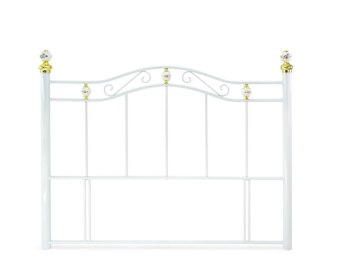 Coventry White Metal Headboard