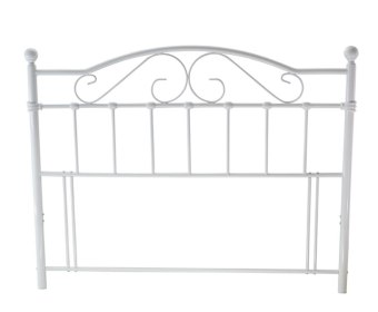 Exmoor White Metal Headboard