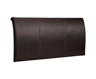 Alpha Faux Leather and Suede Headboard