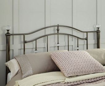 Ashley Black Nickel Metal Headboard