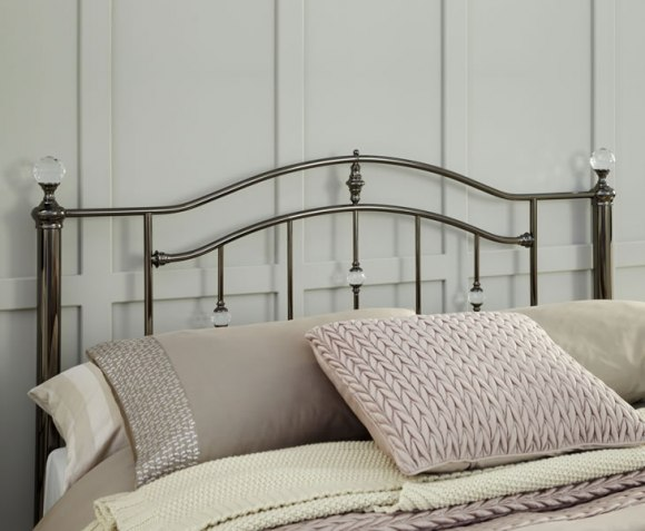 Ashley Black Nickel Metal Headboard - Just Headboards