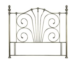 Jess Antique Brass Metal Headboard