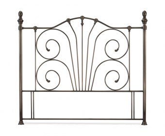 Jess Antique Nickel Metal Headboard