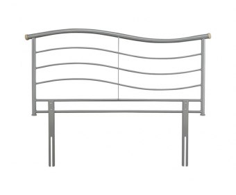 Waverly Silver Metal Headboard