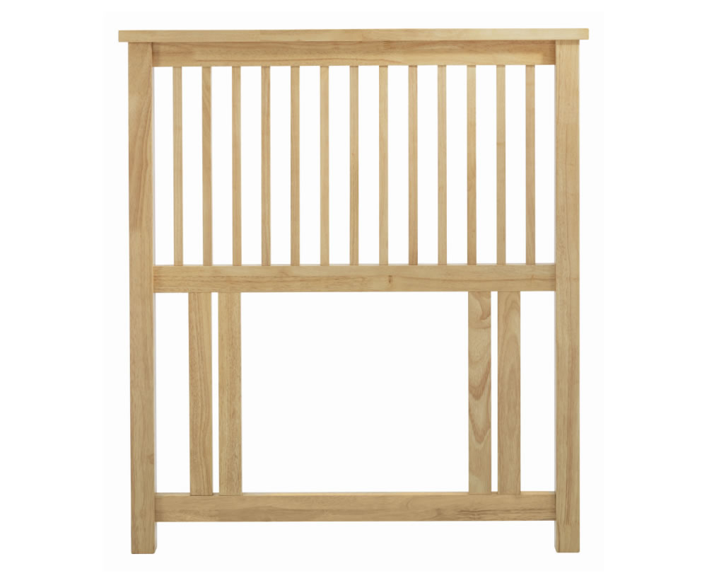 Atlantis Natural Slatted Single Headboard
