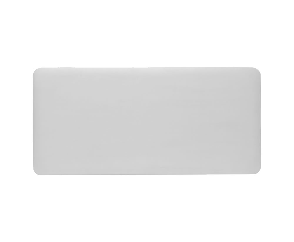 justheadboards.co.uk New Madison Faux Leather and Suede Headboard small single size - 2ft 6 faux leather white