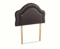 Chloe Traditional Faux Leather and Suede Headboard