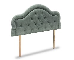 Lydia Traditional Faux Leather and Suede Headboard