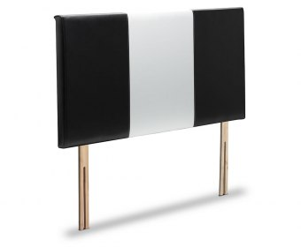 Aster Two Tone Faux Leather and Suede Headboard
