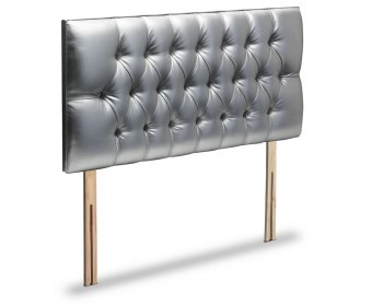 Diana Buttoned Faux Leather and Suede Headboard